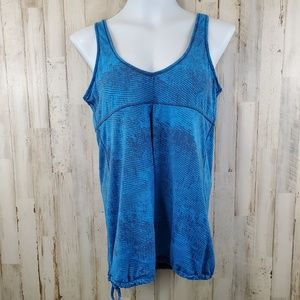 Lucy Womens Athletic Tank Top M ? Blue Workout Gym